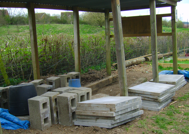 Slabs and Blocks for Base for Water Storage