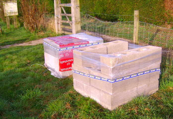 Blocks and Paving Slabs Delivered to Craven Arms Community Garden