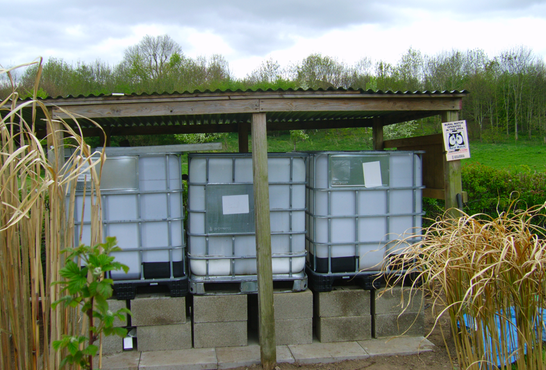 Newly Installed IBCs Waiting for Rain