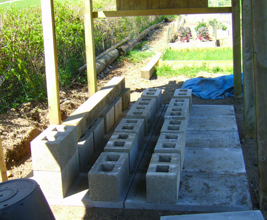 Preparing the Base for Water Storage Containers 18th April 2015