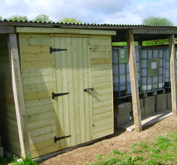 New Shed at Craven Arms Community Garden