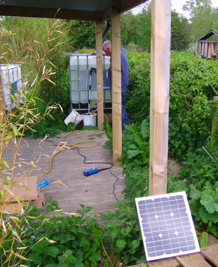 Solar Powered Water Pumping at Craven Arms Community Garden