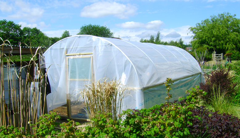 CACG Polytunnel Cover Draped 5th June 2015