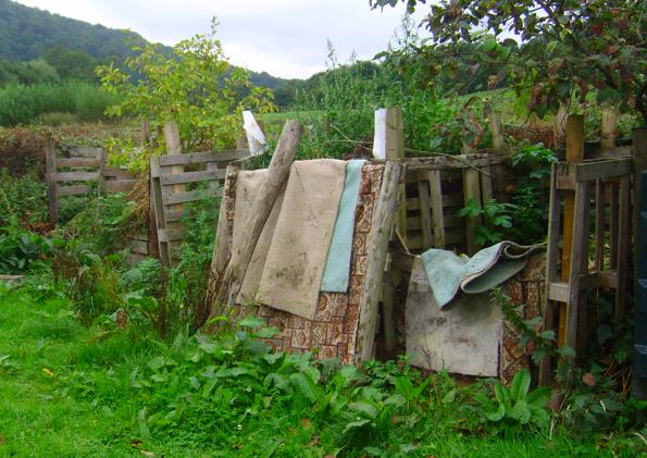Community Garden Compost Bins August 2015