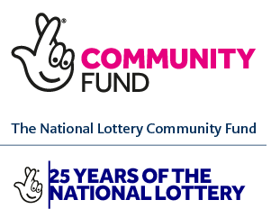 The logo of the National Lottery Community Fund and Celebrate 25